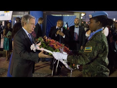 Wreath laying for fallen peacekeepers in the Central African Republic (CAR)