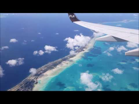 Arriving in Tarawa, Kiribati