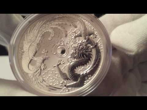 2017 Perth Mint 1 Oz. Silver Dragon And Phoenix Review