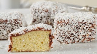 Lamingtons Recipe Demonstration - Joyofbaking.com
