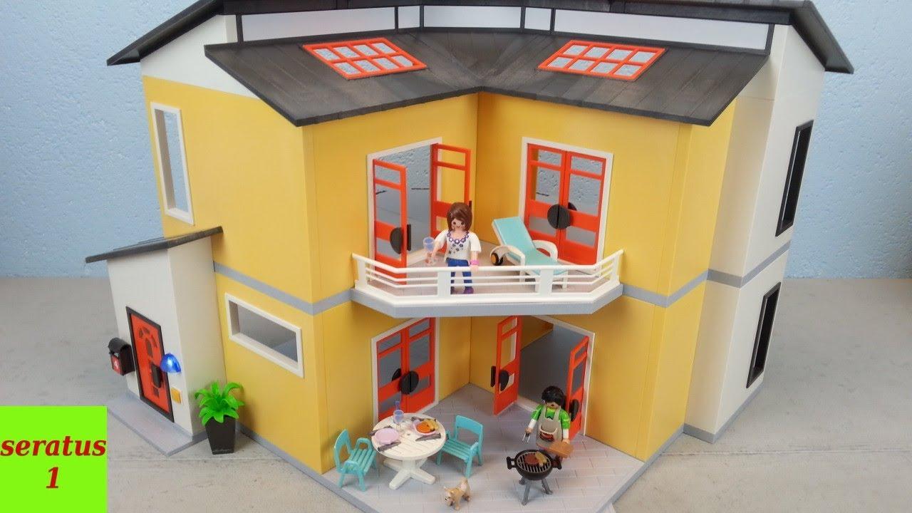 Playmobil modernes wohnhaus 9266 auspacken seratus1 neu for Modernes haus playmobil