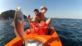 Corvina e Cavalinha em Copacabana RJ - Pesca com Caiaque - Kayak Fishing - Leogafanha - Dicas