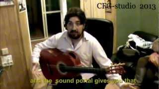 Antonio Rey recording with Andalusian Guitars models Santos Hernandez 1930 / 1927 Sound Portal
