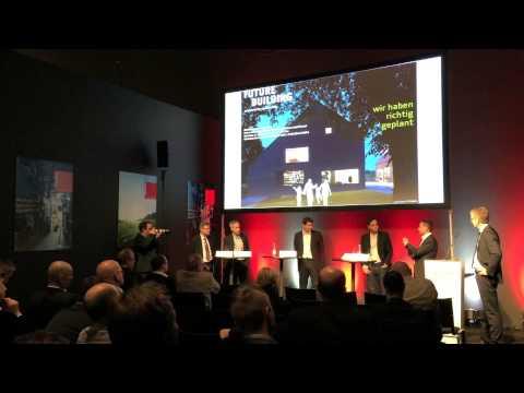 FutureBuilding monitored by eco2friendly, Podiumsdiskussion auf der Swissbau Basel 2014