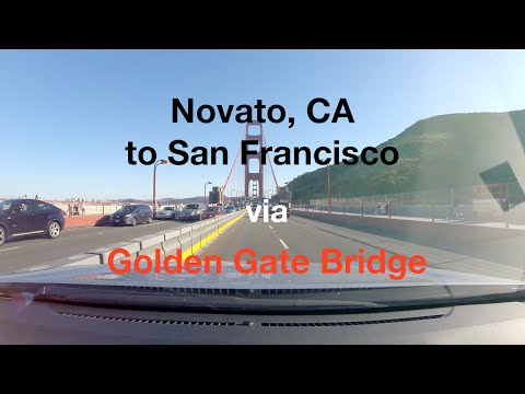 Novato, CA to San Francisco via Golden Gate Bridge
