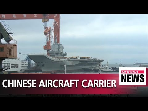China's first home-built aircraft carrier heads out for sea trial