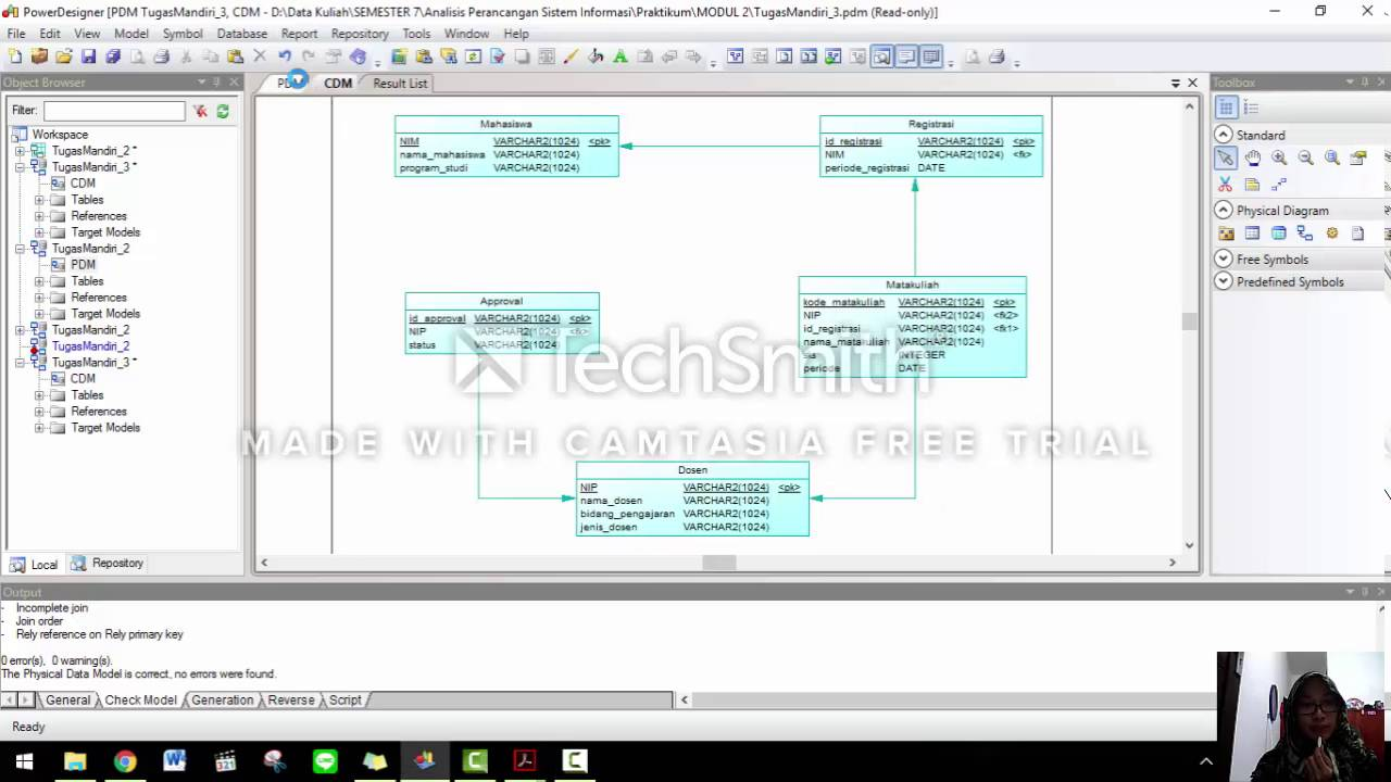 Conceptual Data Model Physical Data Model Generate Database Youtube