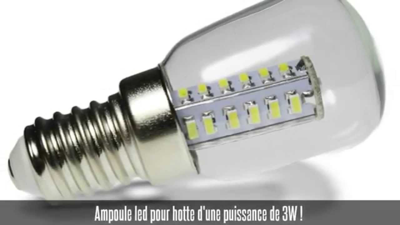 ampoule led hotte e14 3w blanc froid youtube