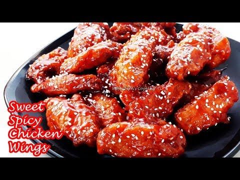 THE EASIEST BONCHON STYLE SWEET SPICY CRISPY FRIED CHICKEN WINGS!!!