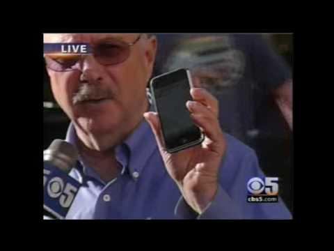 Larry Magid shows off original iPhone on KPIX (CBS 5 SF) on June 29, 2007