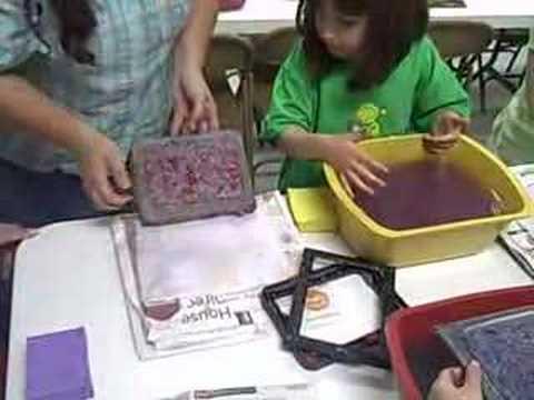 VBS 2008 Craft Making Paper Calvary Baptist Church