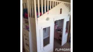 Custom Loft Bed With Ladder Lock.