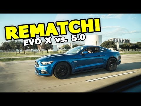 MUSTANG WANTS A REMATCH! (Evo X vs. 5.0 Mustang GT)