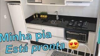 NOSSA PIA CHEGOU + Preparando primeiro almoço na cozinha nova