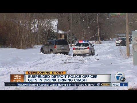 Suspended Detroit Police Officer Gets In Drunk Driving Crash