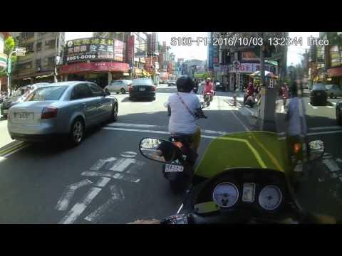 105/10/03 QG4-477 市區三寶 不打方向燈 逕行右轉又左轉