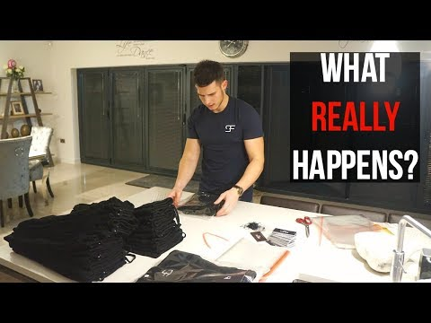 BEHIND THE SCENES OF A START UP CLOTHING BRAND | VLOG 24