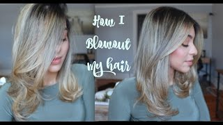 How to Blowout/Blow dry your hair  Amanda Ros3