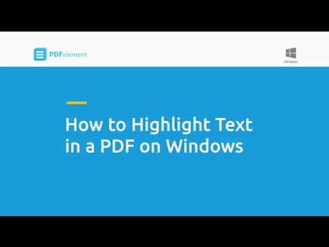 How to Highlight Text in a PDF on Windows