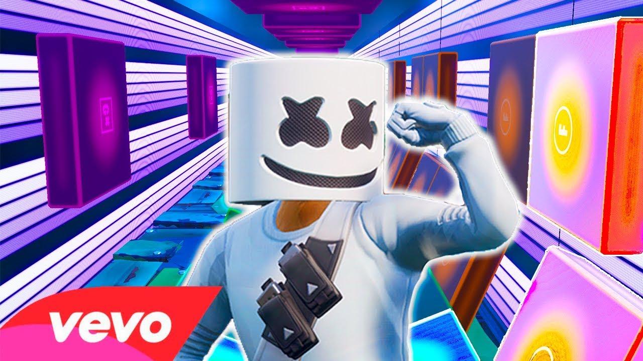 marshmello alone in note blocks fortnite music block video - fortnite note blocks alone