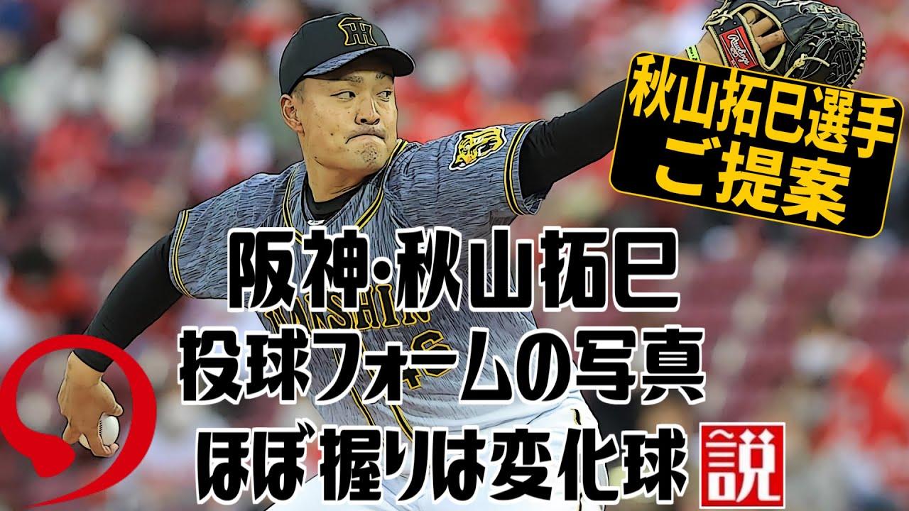 阪神・秋山拓巳 投球フォームの写真 ほぼ握りは変化球説