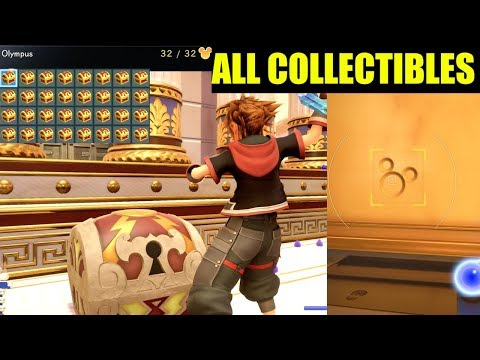 """""""Olympus Lucky Emblems"""" Treasure Boxes & Hidden games (Kingdom Hearts 3 All Collectibles)"""