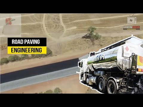 AMAZING ENGINEERING ROAD BEING PAVED IN AUSTRALIA!