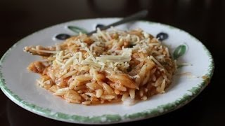 Greek Style Baked Orzo In A Light Tomato Sauce: Manestra