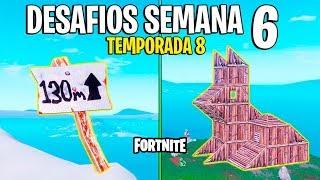 FORTNITE - COMO RESOLVER OS DESAFIOS DA SEMANA 6 DA TEMPORADA 8!