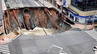 إستطاع اليابانيون إصلاح هذا الطريق فى 6 ساعات فقط , شاهد المعجزة .. !!