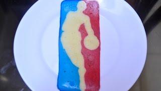 Pancake Art - NBA Logo