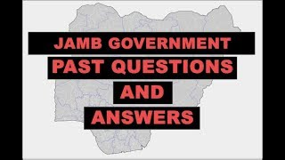 JAMB/UTME Government 2015 Past Questions and Answers: Q41-50