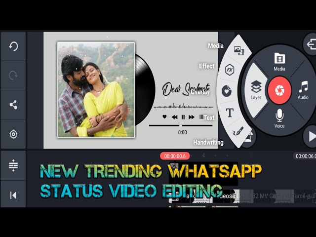 How to make a new trending whatsapp status editing in kinemaster  sc creation