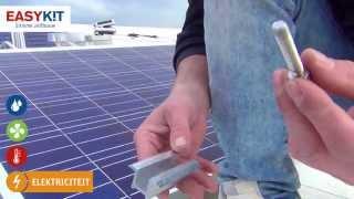Plaats zelf je zonnepanelen (pv) op een plat dak (zuid opstelling)