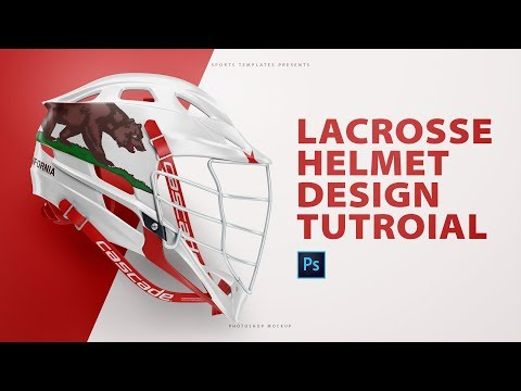 How to design a lacrosse helmet using photoshop templates.