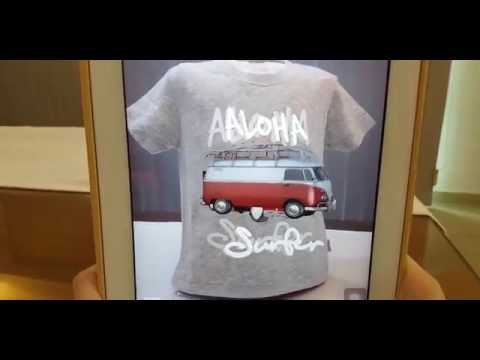Aloha bus Augmented Reality Tshirt by Curiosity Fashion
