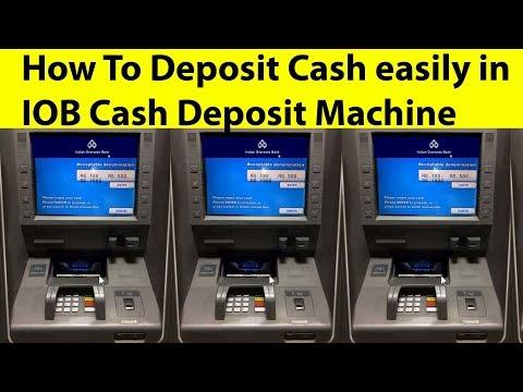 How To Deposit Cash easily in  IOB Cash Deposit Machine | Tamil Banking