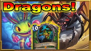 Hearthstone: Huge Minions OTK Dragons Hunter With Emeriss | The Most Fun | Descent of Dragons | Wild