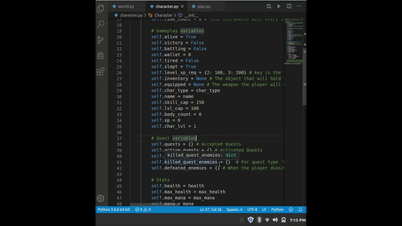 how to make a text based game in python