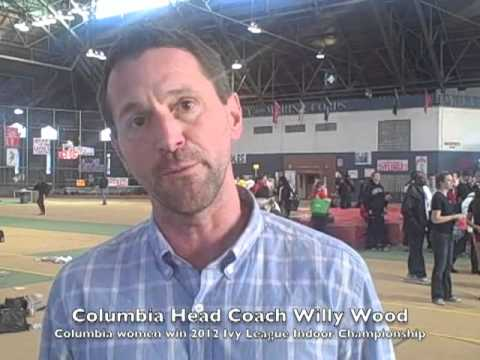 Columbia Track & Field Head Coach Willy Wood - Ivy League Indoor Heptagonal T&F Championships