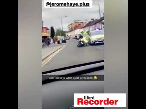 Policeman pushed off bike in Ilford
