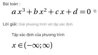 giải phương trình bậc 3 trên mạng