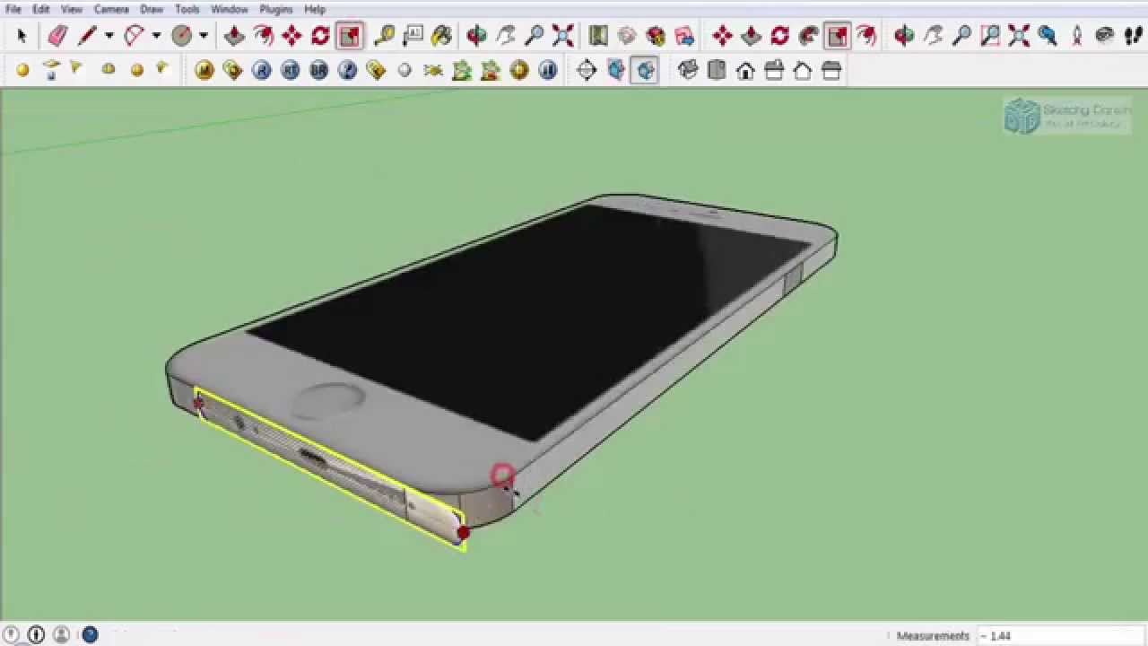 Making Of An Iphone 6 In Google Sketchup Youtube
