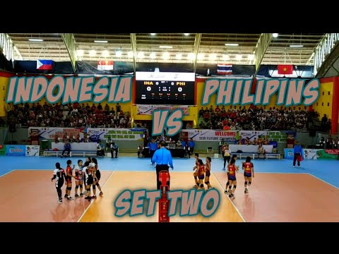Indonesia vs Philippins - women's Volleyball | ASEAN School Games 2019, Set two