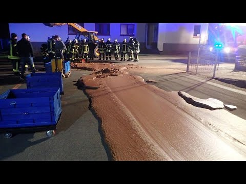 Andi and Kenny  - Street Flooded with Chocolate After Factory Mishap