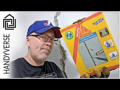 Using The SikaFix Injection Repair Kit To Fix A Crack In A Basement Wall : EP 039