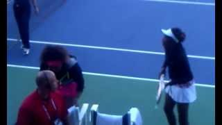 Venus and Serena Williams Doubles at 2012 US Open