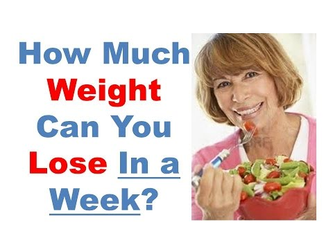 How much weight can you lose in a week, How to lose weight fast in 1 week, lose 5 pounds in one week