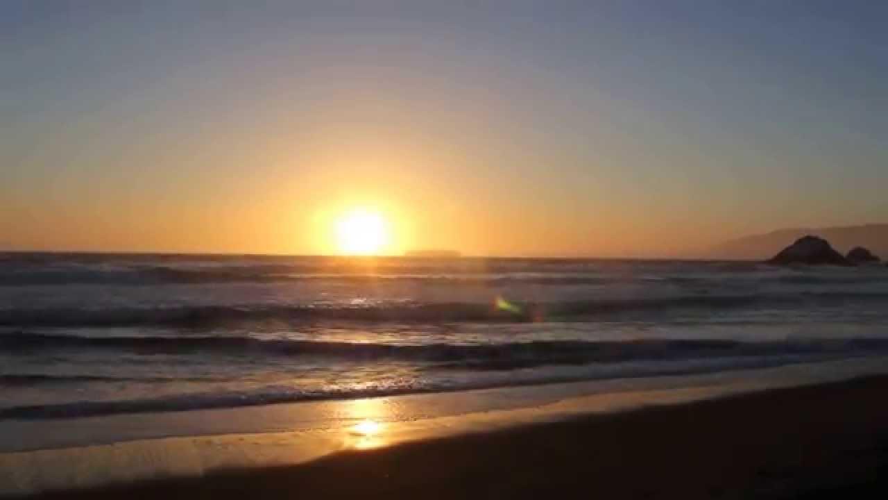 Ocean Beach Scene S.F. 2014 Sunset