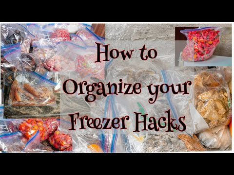 MY FREEZER HACKS | HOW TO CREATE MORE SPACE AND KEEP A CLEAN LOOKING FREEZER | MSABITUTORIALS